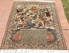 Persian lamb's wool Jesus bible Christ handmade hand knotted rug 160 x 100 cm