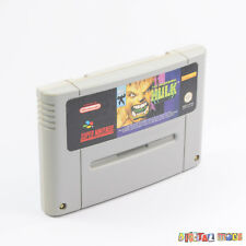 The Incredible Hulk - Cart Only - GOOD - TESTED - Super Nintendo SNES Game PAL