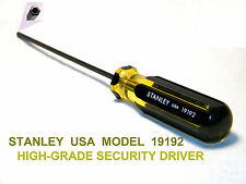 SECURITY DRIVER, STANLEY, LARGE-GRIP, HOLE-IN-PIN, CCTV- 5/32 TIP, SINGLE, NEW