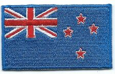 New Zealand Flag Embroidered Patch Iron-on Motif Art Good Luck Magic