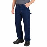 Dickies LU200RNB Relaxed Fit Industrial Carpenter Denim Jeans 32 UL LU200 IRREG