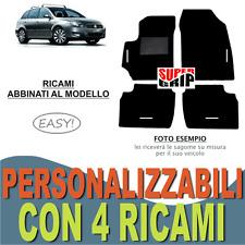 TAPPETINI AUTO SU MISURA PER FIAT CROMA MOQUETTE E FONDO GOMMA + 4 RICAMI EASY