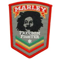 Bob Marley Iron On Patch Sew Freedom Fighter Icon Reggae Rasta Music 70s