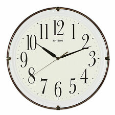 Rhythm Modern Brown Luminous Plastic Silent Wall Clock