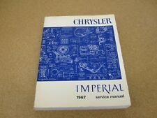 1967 chrysler imperial 300 new yorker original dealer repair service shop  manual