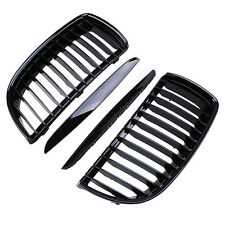 Gloss Black Kidney Front Grill Grilles Fit BMW E90 E91 3 Series 4Door 2004-2008