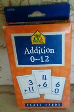 Addition 0 - 12 Flash Cards for Ages 6-up.