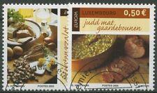 Luxemburg 2005 Europa CEPT Gastronomie 1673/74 gestempelt