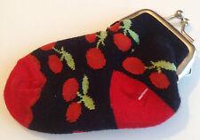 porte monnaie chaussette bébé couleur noir rouge fermeture couleur argent Div.
