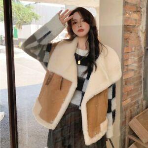 Women Shearling Vest Leather Coat Warm Wool Waistcoat Double Face Gilet3MH3638L