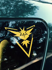 Team Instinct STICKER VINYL DECAL VALOR MYSTIC PIKACHU GO JIGGLYPUFF CHANSEY