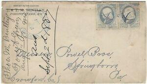 1887 Forrest Green Missouri station agent postmark Wabash, St Louis & Pacific RR