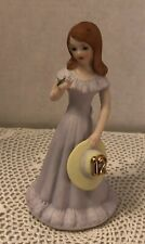 "New Listing""Growing Up Girls� from Enesco Birthday Girl Figurine Age 12 /Brunette"
