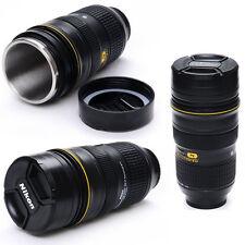 NIKKOR Fans Lens 1:1 AF-S 24-70mm F/2.8G Coffee Thermos Cup Mug Lid Zoom Black