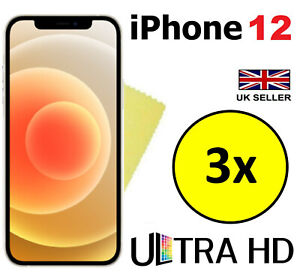 3x ULTRA HD CLEAR SCREEN PROTECTOR COVER GUARD FILMS FOR APPLE IPHONE 12