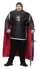 Medieval Knight Renaissance Adult Plus Men Costume Gallant Dashing Halloween Xxl
