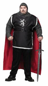 Medieval Knight Renaissance Adult Plus Men Costume Gallant Dashing Halloween Xxl