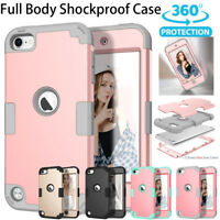 For iPod Touch 5th 6th Gen - Hard & Soft Rubber Hybrid Armor Impact Case Skin