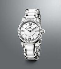 david yurman womanu0027s stainless steel u0026 white ceramic diamond watch 30 mm new box
