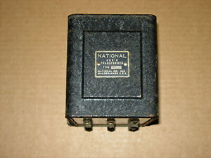 30s VINTAGE NATIONAL COMPANY TYPE BO AUDIO OUTPUT or MODULATION TRANSFORMER