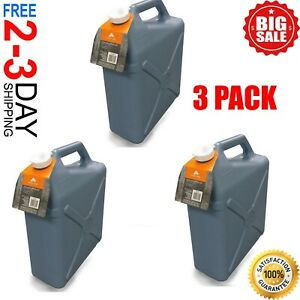 6 Gallon Water Carrier Jug (3 Pack) Plastic Container, Camping, Hiking, Hunting