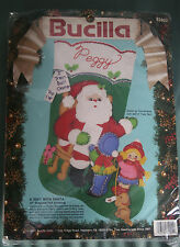 Bucilla Felt Christmas Stocking Kit 82902 A Visit With Santa  Children Dog 18 in