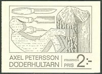 SWEDEN (H213) Scott 798a, Axel Petersson Booklet, VF