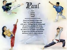 """""""Martial Arts"""" Name Meaning Print Personalized (Sports Hobbies Karate MMA)"""