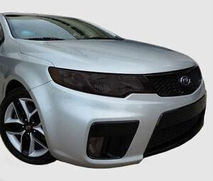 FITS 2010-2013 Kia Forte Koup vinyl overlays headlight tints front kit