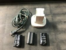 Xbox 360 Dual Battery Charging Dock Station & 3 Batteries...For Parts