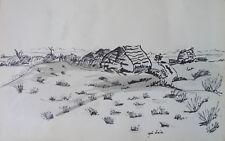 Roger CRUSAT (1917-1994) Dessin Drawning Nle Ecole de Paris Jeune Peinture