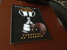 1987 GREY CUP program Toronto vs Edmonton BC Place nrmt condition