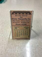 Rare Storey-Kenworthy Co. Office Supplies Des Moines, Iowa Advertising 1940's