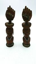 Vintage Fist Handcarved Wood African Bottle Openers With Hidden Corkscrew
