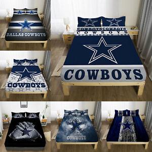Dallas Cowboys Fitted Sheet Set Mattress Cover 3PCS Bed Sheet Pillowcases Gifts