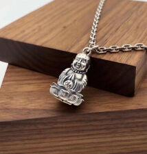 C26 Pendentif à Ouvrir Buddha Argent 925 Vajra Symbole Bouddhiste