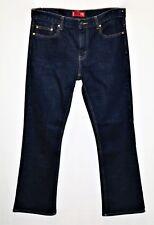 "LEVI's Brand 715 Dark Blue Skinny Leg Bootcut Denim Jeans Size 35"" #SJ20"