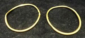 10K GOLD BABY CHILD BANGLE BRACELETS - SET OF 2