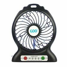 Mini Ventilateur Climatiseur de Table Bureau Ventilation USB Batterie et LED