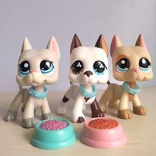 3 Lot Littlest Pet Shop LPS Great Dane Dog #577  #1688 #1647 Authentic Rare