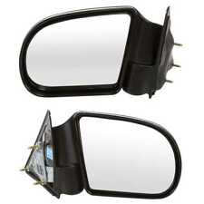 New Pair Left and Right Manual Side Door Mirror fits Chev S10 GMC Envoy Jimmy