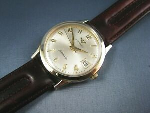 Vintage Longines Wittnauer Automatic 10K Gold GF 1960s Mens Dress Date Watch