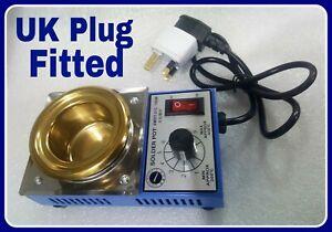 Solder dip Pot UK Plug fitted Soldering Bath cast lead fishing weights melt lead