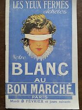 "CATALOGUE MODE "" AU BON MARCHE "" 1920 LE BLANC"