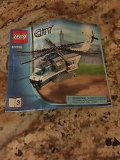 LEGO CITY 60046 HELICOPTER SURVEILLANCE 528 PIECE **BOOKLET ONLY**
