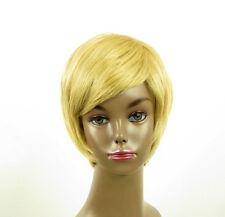 perruque afro femme 100% cheveux naturel courte blonde ref LAET 03/22