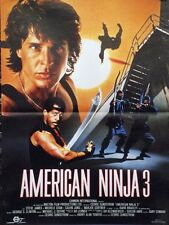 """AMERICAN NINJA 3 (BLOOD HUNT)"" Affiche originale (David BRADLEY)"
