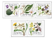 ZWEDEN 2018    eetbare  planten    plants      5w     postfris/mnh