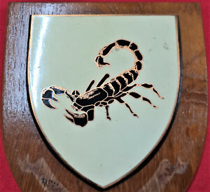 VINTAGE RHODESIAN ARMY SPECIAL FORCES WOODEN WALL PLAQUE