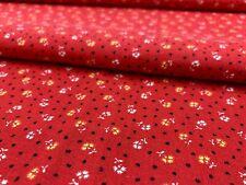 """Calico tradiciones floral en tela de algodón marrón chocolate por yarda 44/"""""""